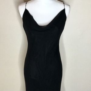 A.B.S. by Allen Schwartz petite black slip dress